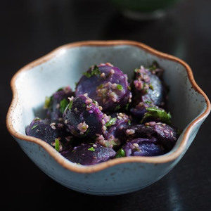 Vegan Potato Salad with Sesame and Chilies